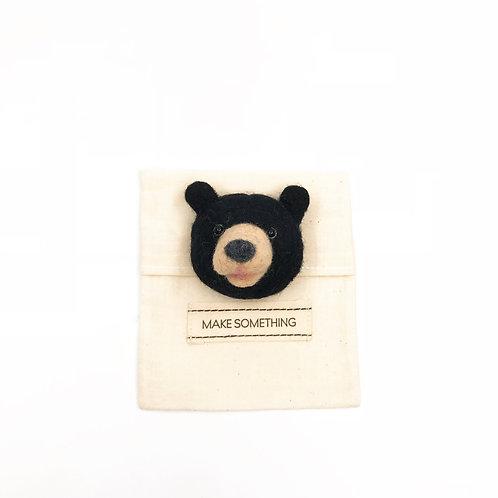 Black Bear Brooch