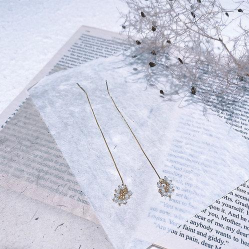 Pearl Chain Earrings - fireworks mini
