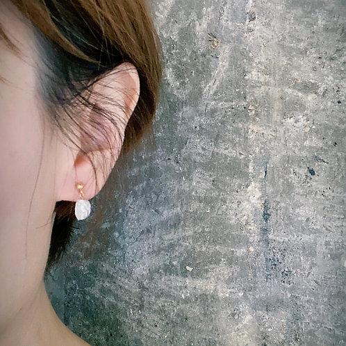 Pearl Earrings - Seashell