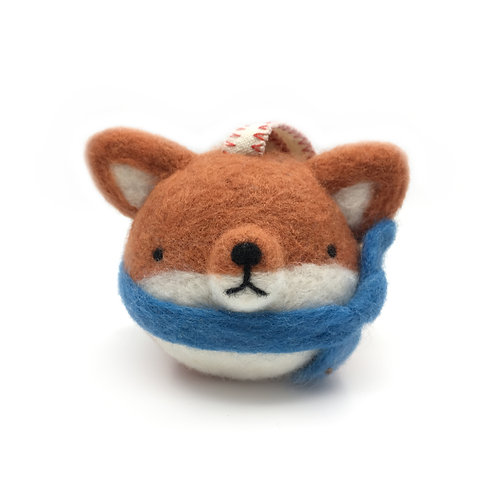 Needle Felted Fox Ornament