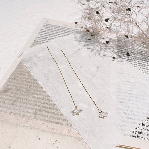 Pearl Chain Earrings - petite bones