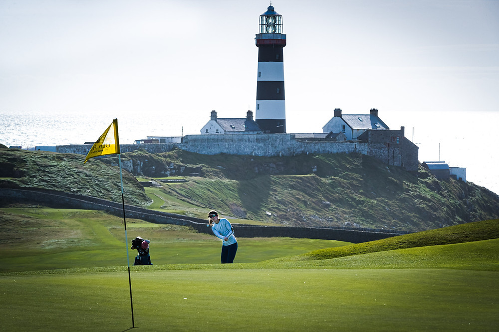 Spectacular tee box at Hamilton Island Golf Club