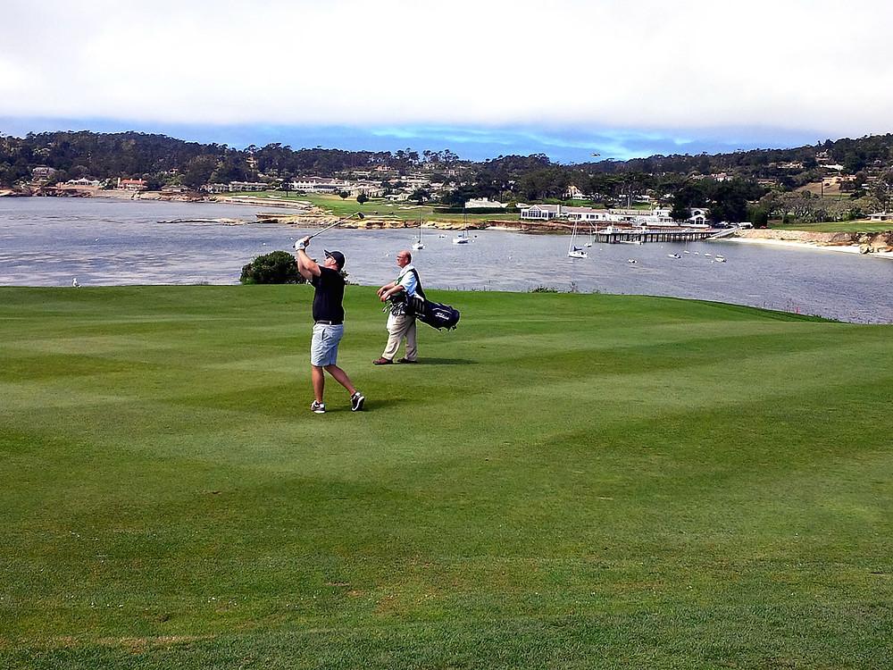 Pebble Beach - 6th hole approach shot