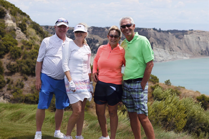 """Kia Ora!"" from Cape Kidnappers"