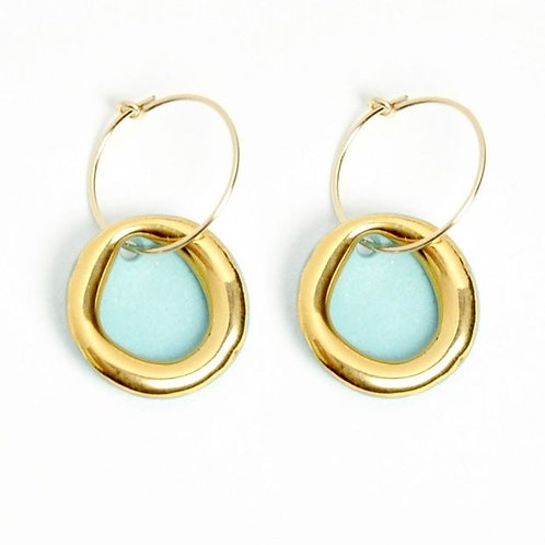 HALO EARRINGS MINT