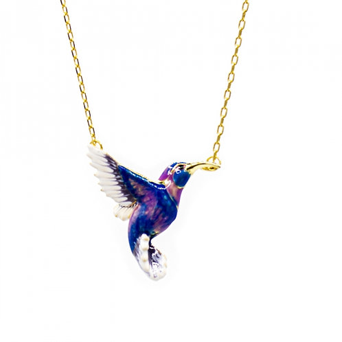 HUMMINGBIRD PENDANT BLUE