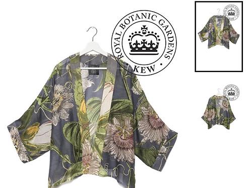 One Hundred Stars & KEW RBG Passion Flower Grey Kimono