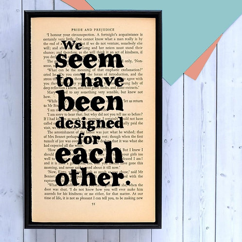 PRIDE AND PREJUDICE BOOK PRINT