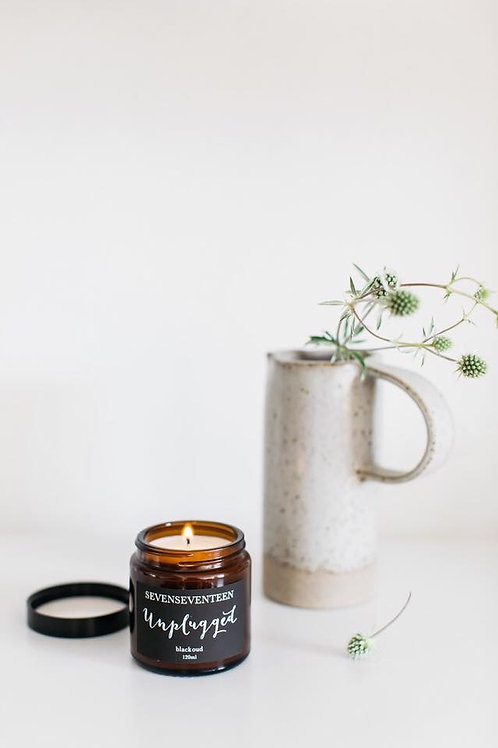 UNPLUGGED / BLACK OUD CANDLE