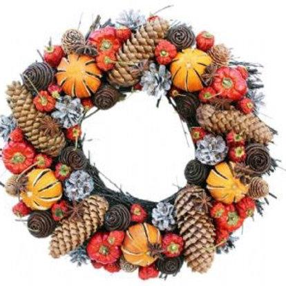 Winter Cone Round Wreath