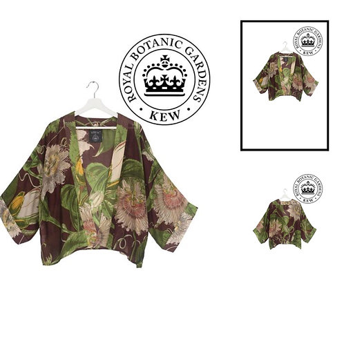Passion Flower Burgundy Kimono *NEW