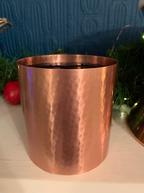 LARGE OUD, TOBACCO AND WHISKY LUXURY CANDLE COPPER