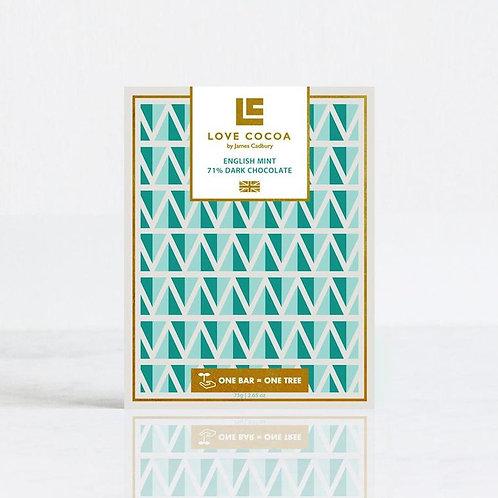 English Mint Dark Chocolate 75g Tablet Bar