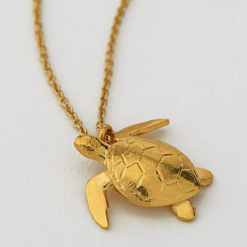 SEA TURTLE NECKLACE GOLD PLATED