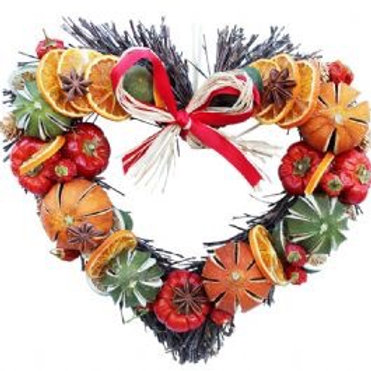 FRUIT TWIG HEART MEDIUM 28CM