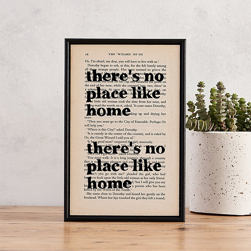 Wizard Of Oz Framed Quote Print