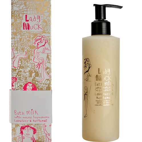 LADY MUCK DESIGN BATH MILK WITH LAVENDER & BERGAMOT