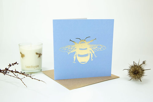 Bluebell Foil Bee Greeting Card