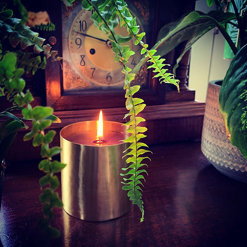 GINGKO, BIRCH & PATCHOULI LUXURY CANDLE BRASS