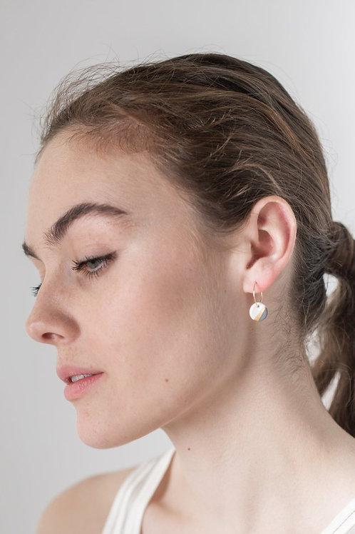 Porcelain Slate Grey Ray Earrings