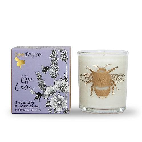 Bee Calm Lavender & Geranium Large Candle