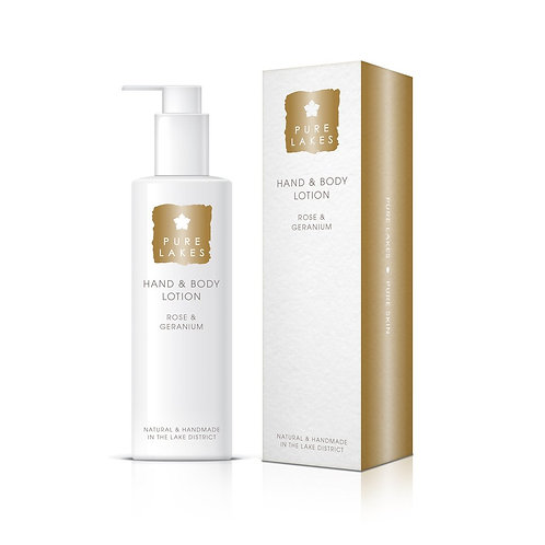 PURE LAKES ROSE & GERANIUM HAND & BODY LOTION