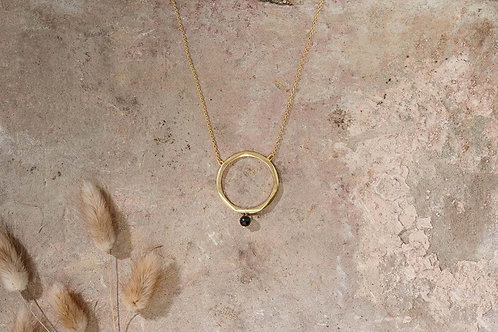 Zana Onyx Drop Necklace