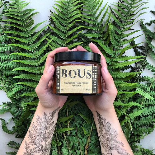 BOUS EDEN - HAND POURED CANDLE - SOY CANDLE
