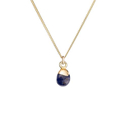 Tiny Tumbled Gemstone Necklace - Sodalite (Inspiration)