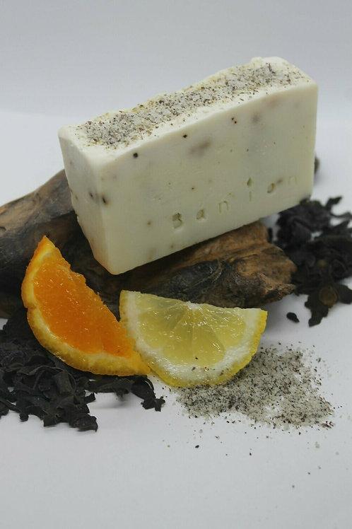 Seaweed, Seasalt, Orange & Lemon handmade soap