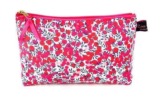 COSMETIC BAG WILTSHIRE RED