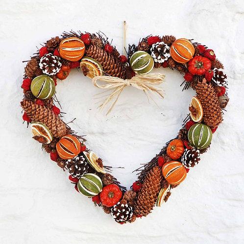 Pochard heart wreath