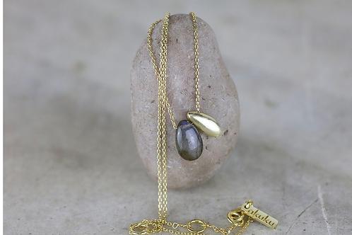 Keebu Labradorite Necklace - Gold
