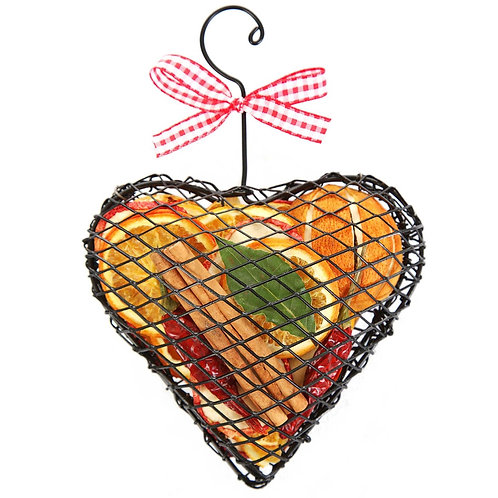 Fruit Hanging Heart Cage