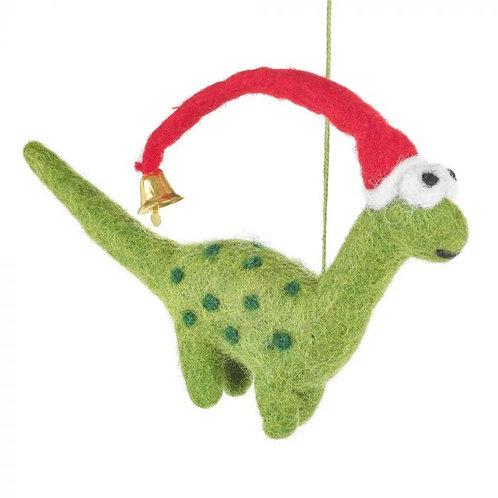Handmade Biodegradable Felt Hanging Lanky Christmas Dinosaur Tree Decoration Chr