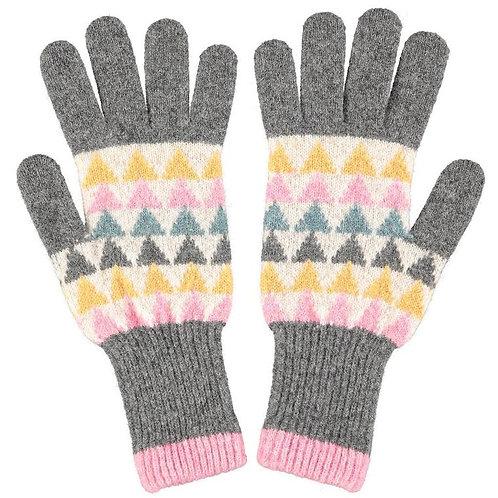 Women's Triangle Lambswool Gloves