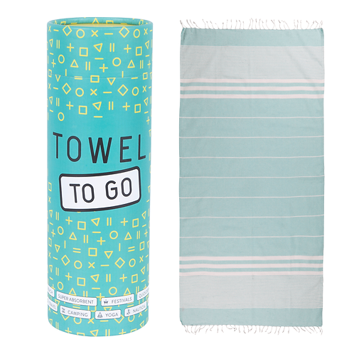 TOWEL TO GO TURQUOISE