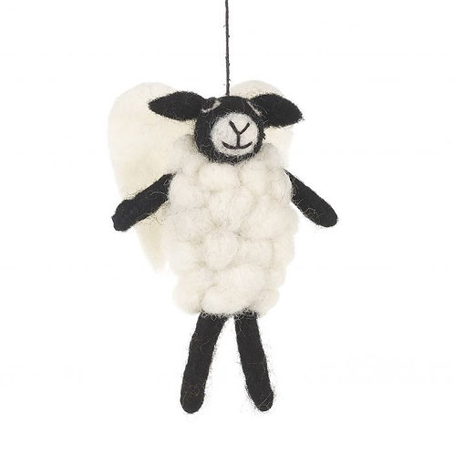 Handmade Felt Angel Sheep Hanging Biodegradable Decoration Christmas Characters