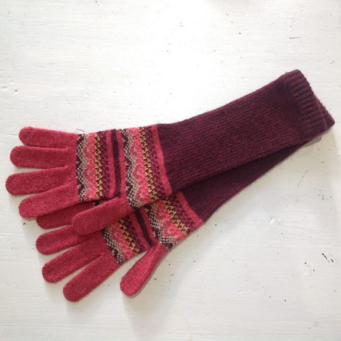 LAMBSWOOL LONG GLOVES IN SUNSET