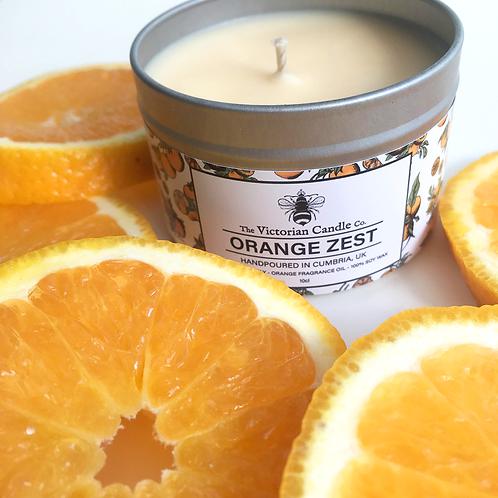 Orange Zest tin candle