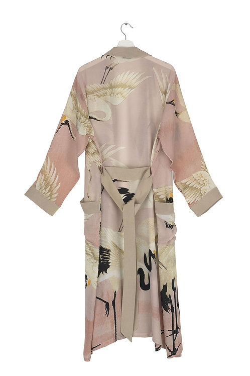 Luxe Crepe Stork Pink Gown