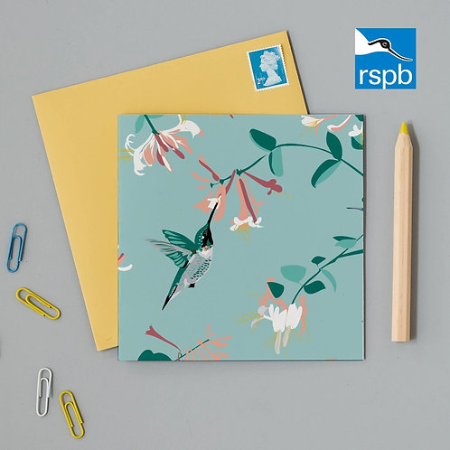 RSPB HUMMINGBIRD MINT CARD