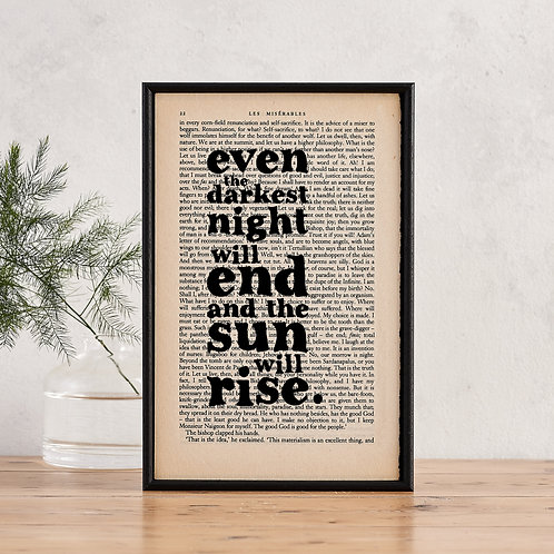 Les Miserables Framed Quote Print