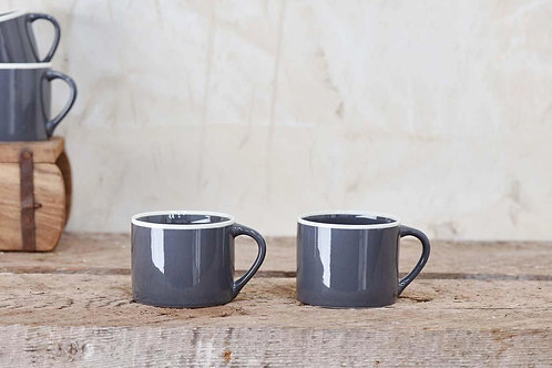 DATIA LARGE MUG - SLATE (SET OF 2)
