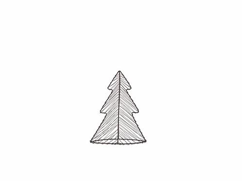 LARGE MAJANI WIRE TREE