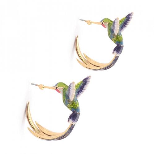 BIRDS OF PARADISE HOOPS GREEN