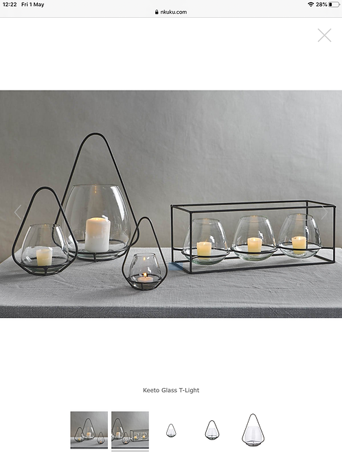 Nkuku tealight set of three