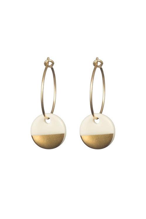 Porcelain Gold Dipped Earrings
