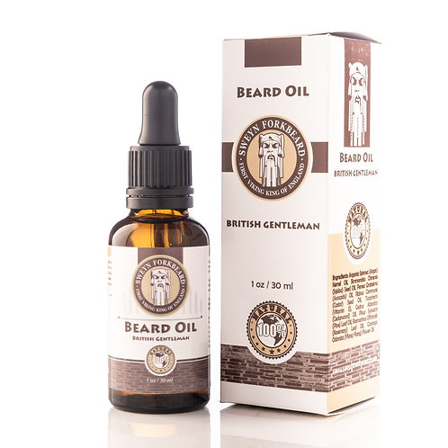 BEARD OIL BRITISH GENTLEMAN 30 ML/1 OZ