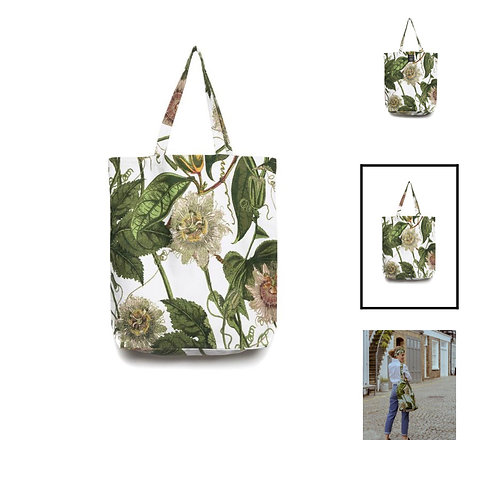 Passion Flower Ivory Bag